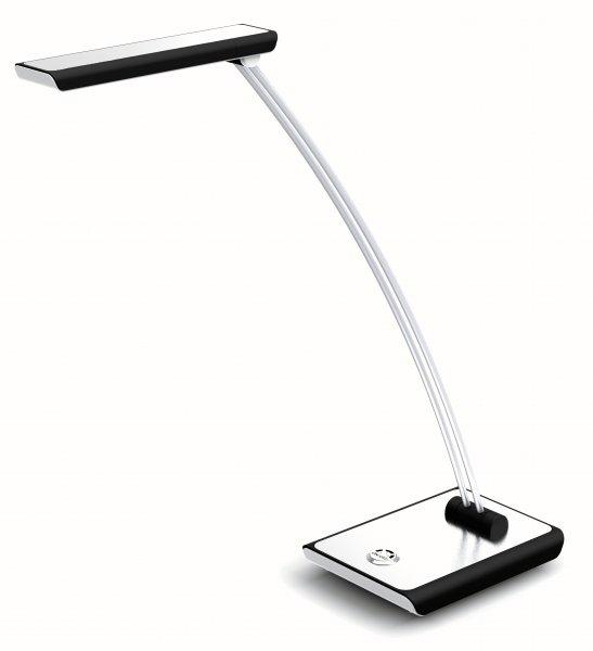 LED-Tischleuchte aluminium-farben/schwarz Schreibtischleuchte Leselampe